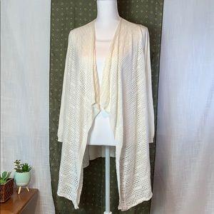 NWT Max Studio Large Ivory Open Cardigan Sweater